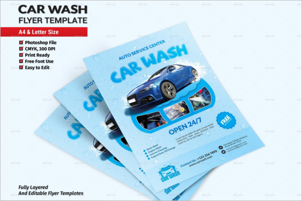 car wash flyer templates free psd design ideas. Black Bedroom Furniture Sets. Home Design Ideas