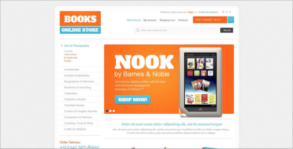 Abstract BookShop OpenCart Theme