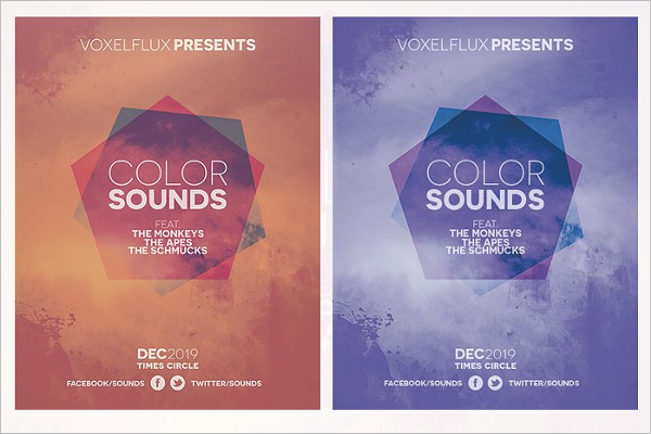 Abstract Event Poster Design