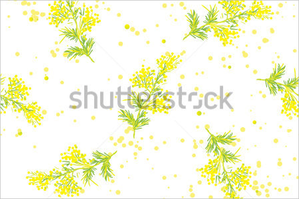 Abstract Mimosa Pattern