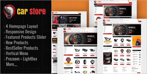 Accessories Car Magento Theme