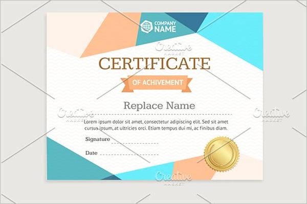 Achievement Blank Certificate Template