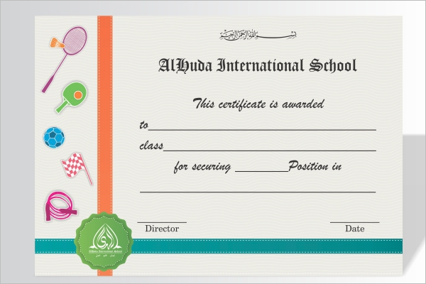 Achievement Certificate For Kids