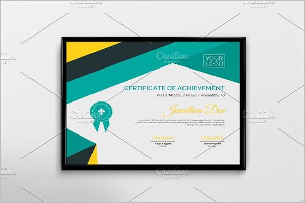 Achivement Certificate Template