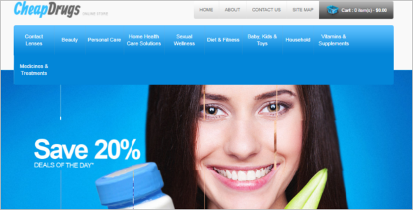 Affordable Drugs OpenCart Template