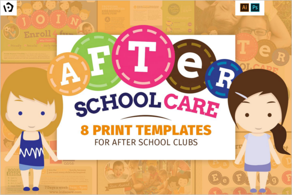 After School Care poster Design