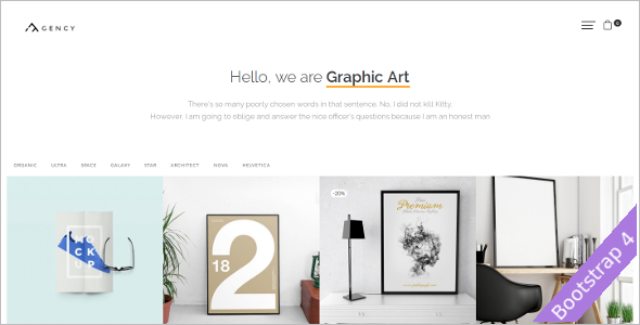 Agency Opencart Template