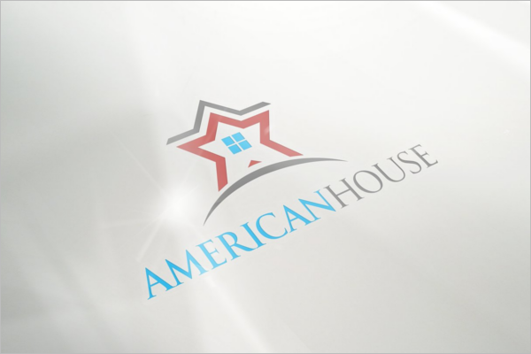 American Wall Logo Mockup