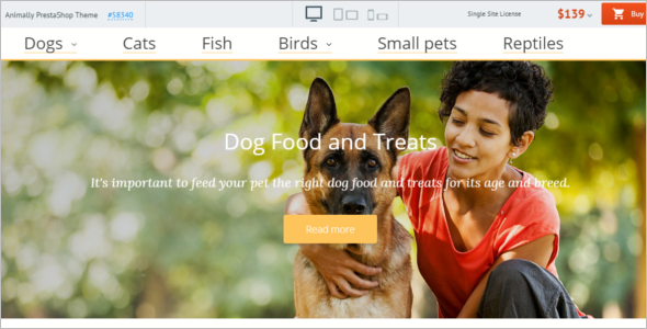 Animally Pets PrestaShop Theme