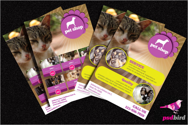 Animals Shop Brochure PSD