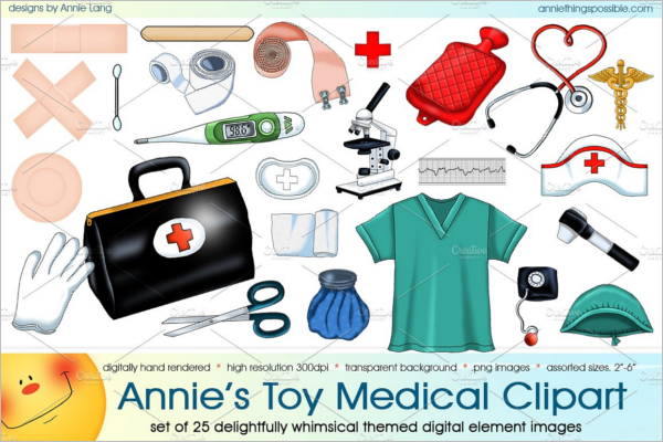 Annie's Toy Medical Clipart Poster