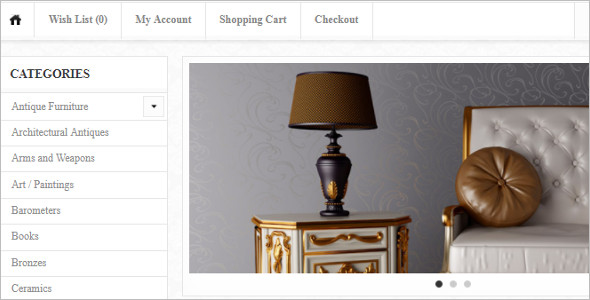 Antique Online OpenCart Template