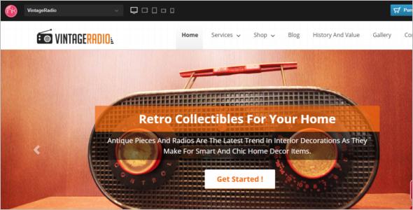 Antique Radios WooCommerce Theme
