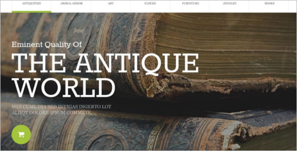 Antique Store OpenCart Template