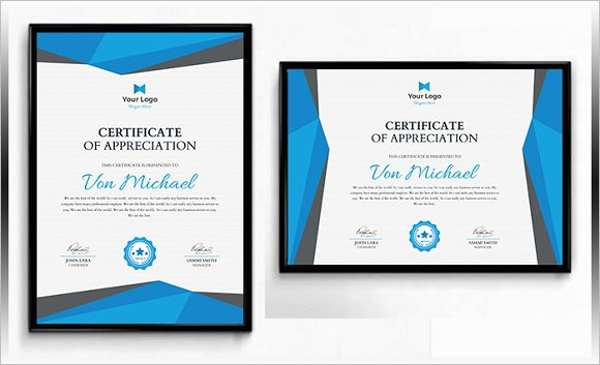 Appreceation Certificate Template