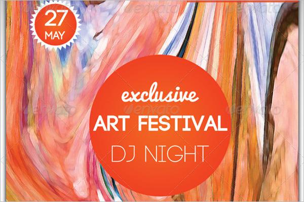 Art Fest Birthday Poster Design