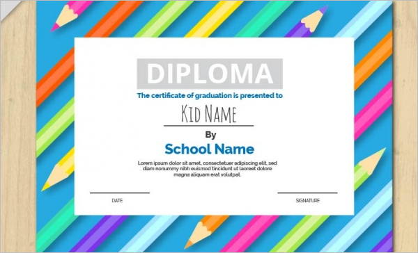 Art Gallery Certificate For Children