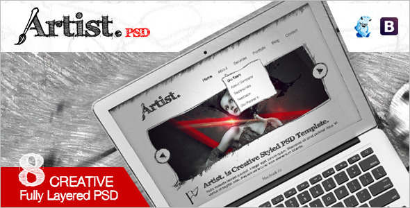 Artist-Sketch-PSD-Template