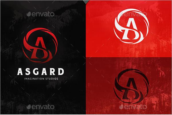 Asgard Photoshop Logo Template