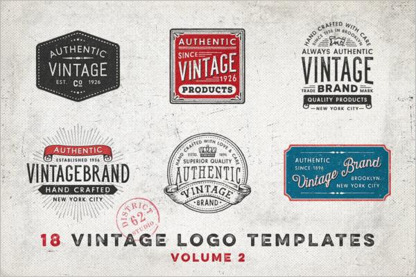 Authentic Vintage Photoshop Logo Template