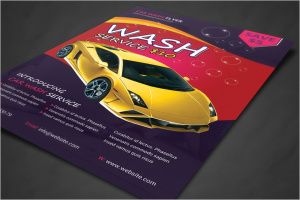 Auto Detailing Car Wash Flyer