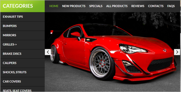 Auto Parts ZenCart Themes