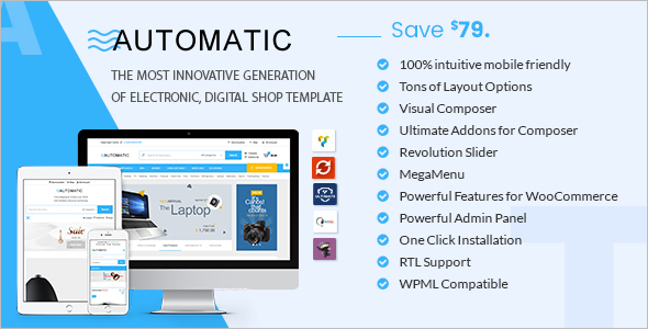 Automatic Computer Store WooCommerce Template