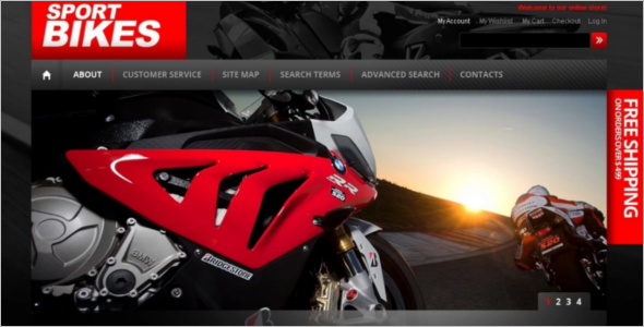 Awesome Bike Shop Magento Theme
