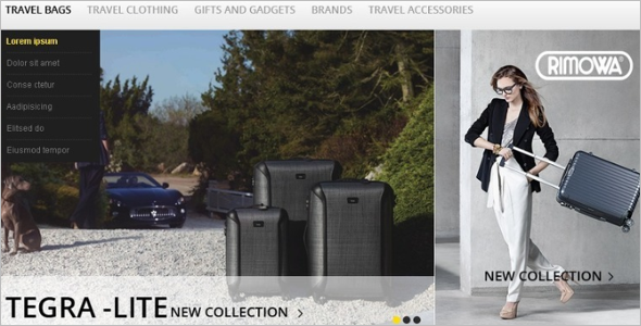 Awesome Travel Bags Magento Theme