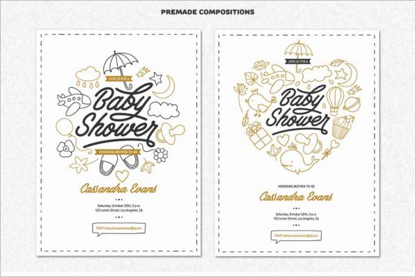 Baby Shower Greeting Card Design