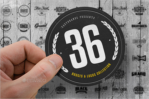 Badges & Logos Photoshop Template