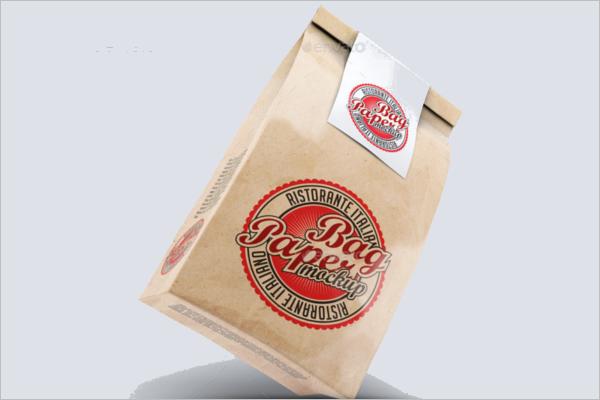 Bag Paper Mockup Template