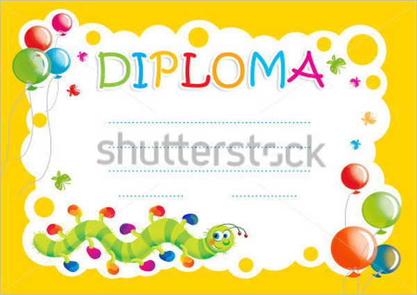 Balloons Certificate For Kids