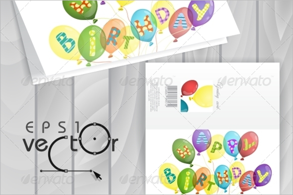 Balloons Greeting Card PSD