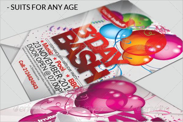 Bash Bday Poster PSD Design