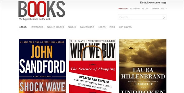Basic Bookstore Magento Template