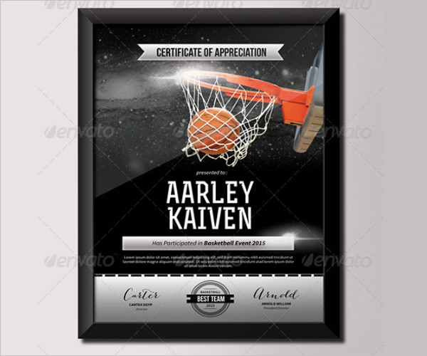 Amazing basketball certificate template gallery resume samples 14 basketball certificate templates free premium creative yadclub Choice Image