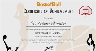 Basketball Certificate Templates