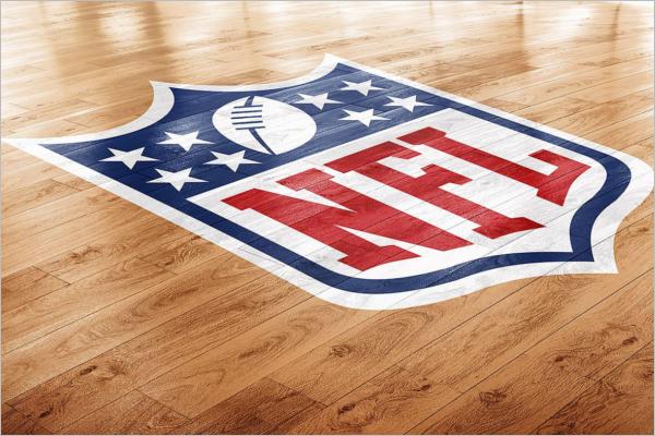 Basketball Court Photoshop Logo Design
