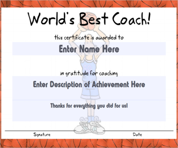 Certificate of coach template jeppefm certificate of coach template yadclub Images
