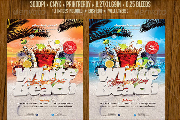 Beach Flyer Background Template