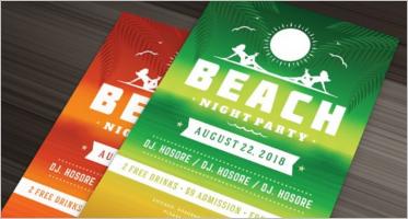 Beach Flyer Templates