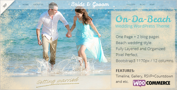 Beach Wedding WooCommerce Theme
