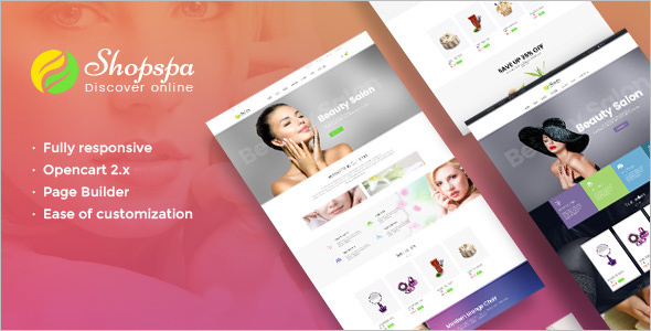 Beauty Salon OpenCart Template