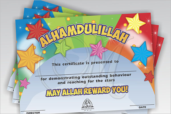 Behaviour Certificate For Kids