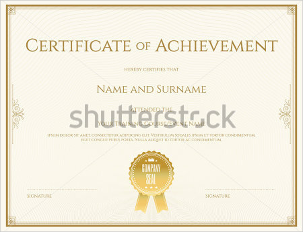 Behaviour Certificate Template