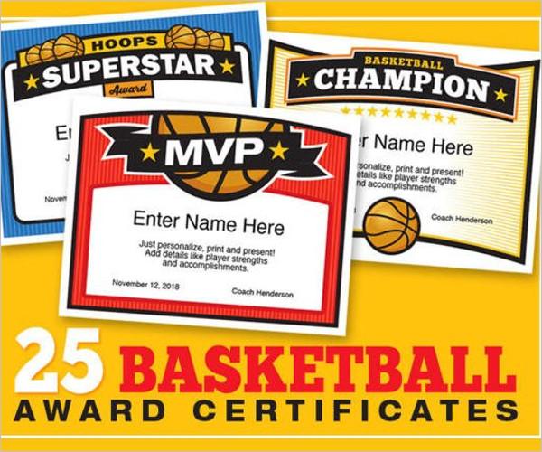 BestBasketball Certificate Template