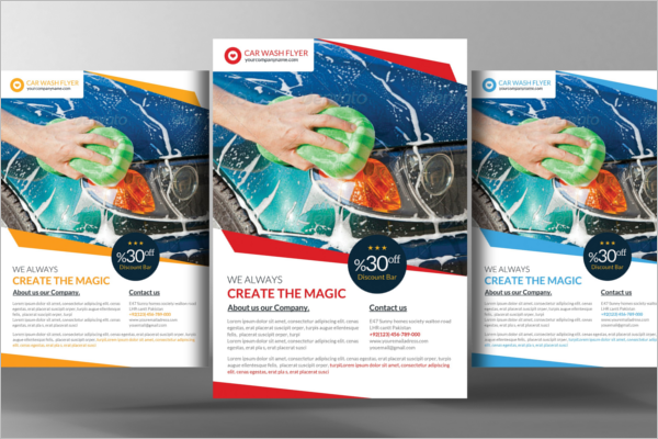 Car Wash Flyer Templates Free PSD Design Ideas