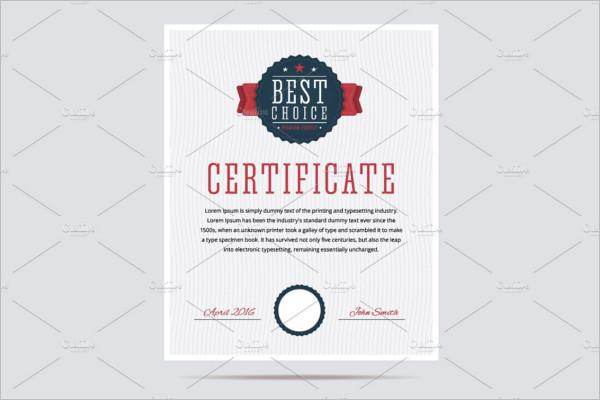 Best Choice Certificate Template