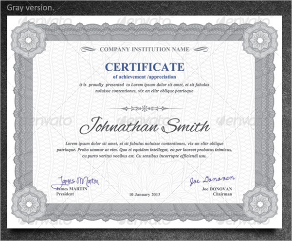 Best Training Certificate Template
